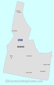 idaho area code map Idaho United States Area Code And Idaho United States Country Code idaho area code map