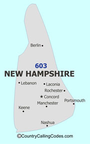 New-Hampshire area code map