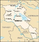 Country map of Armenia