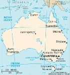 Country map of Australia