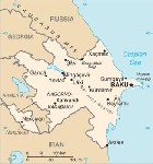 Country map of Azerbaijan