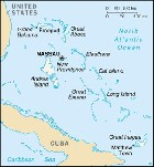 Country map of Bahamas