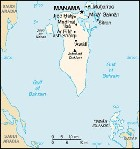 Country map of Bahrain