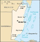 Country map of Belize
