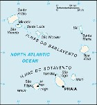 Country map of Cape Verde Islands