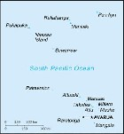 Country map of Cook Islands