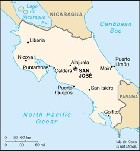 Country map of Costa Rica