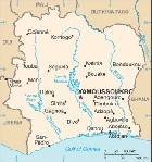 Country map of Ivory Coast