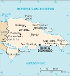 Country map of Dominican Republic