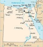 Country map of Egypt