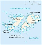 Country map of Falkland Islands