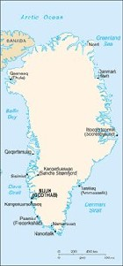 Country map of Greenland