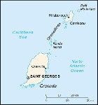 Country map of Grenada And Carriacuou