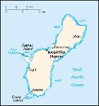 Country map of Guam