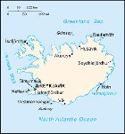 Country map of Iceland