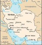 Country map of Iran