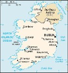 Country map of Ireland