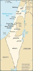 Country map of Israel