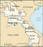 Country map of Laos