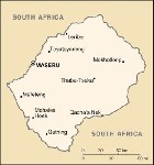 Country map of Lesotho