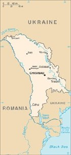 Country map of Moldova