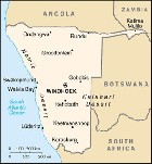 Country map of Namibia