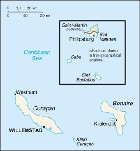 Country map of Netherlands Antilles