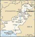 Country map of Pakistan