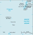 Country map of Palau