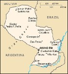 Country map of Paraguay