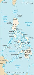 Country map of Philippines