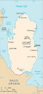 Country map of Qatar