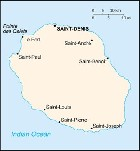 Country map of Reunion Island
