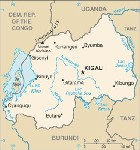 Country map of Rwanda