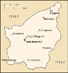 Country map of San Marino