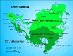 Country map of Sint Maarten