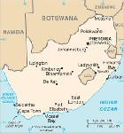 Country map of South Africa