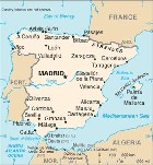 Country map of Spain