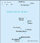 Country map of Tonga
