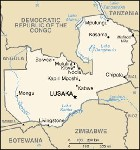Country map of Zambia